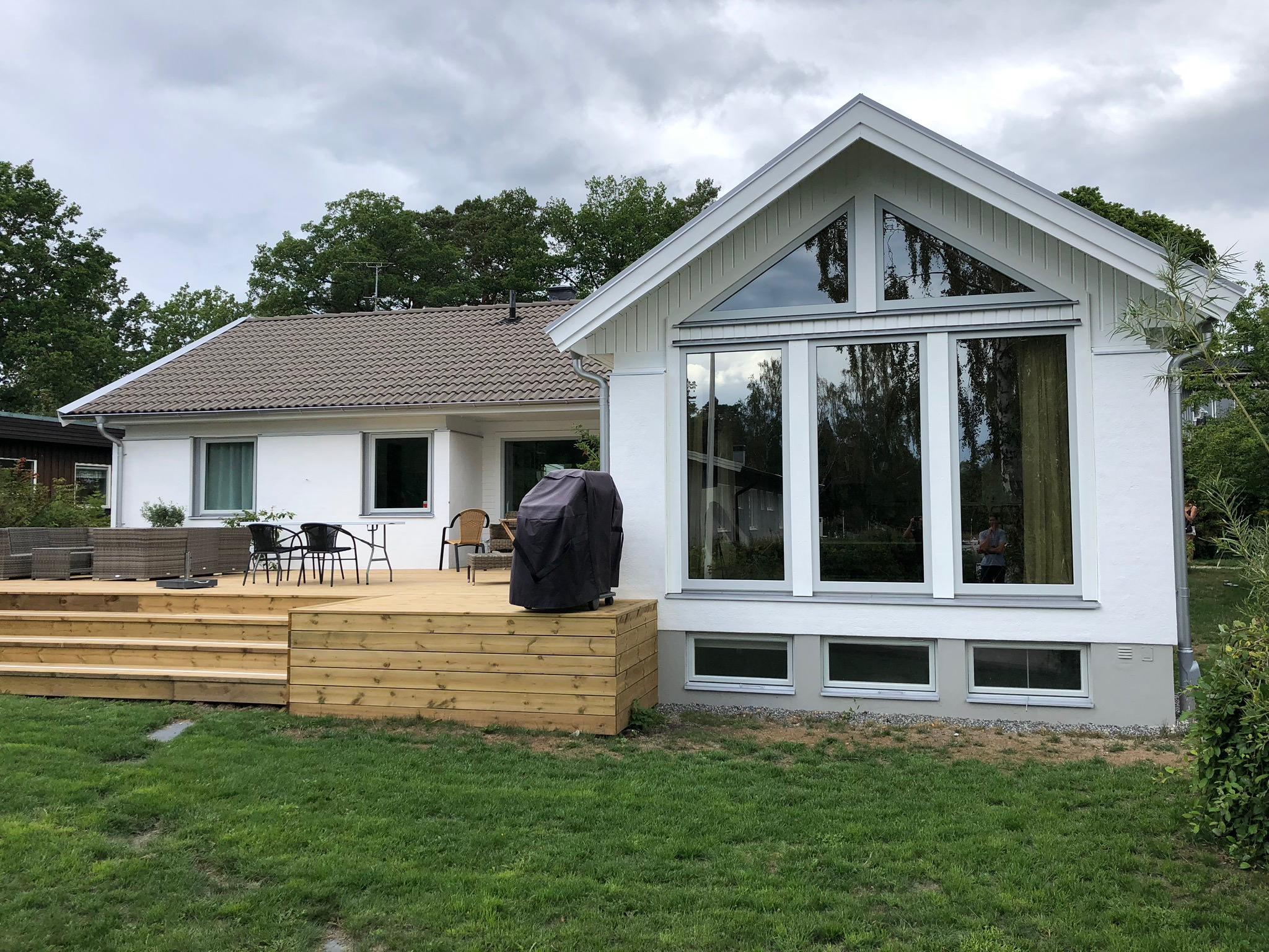 Efter fasadrenovering Sjövägen Åkersberga