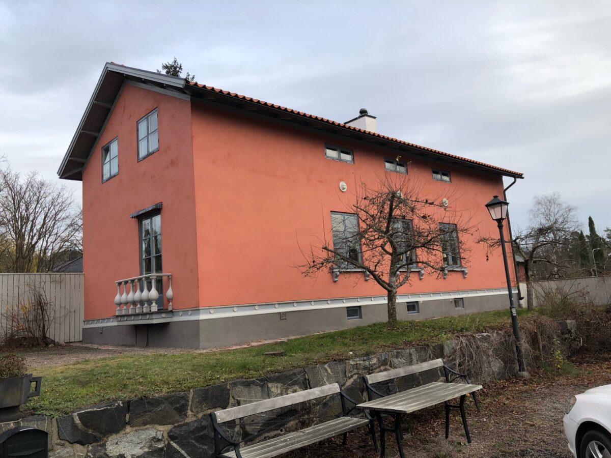 Fasad Villavägen Lidingö